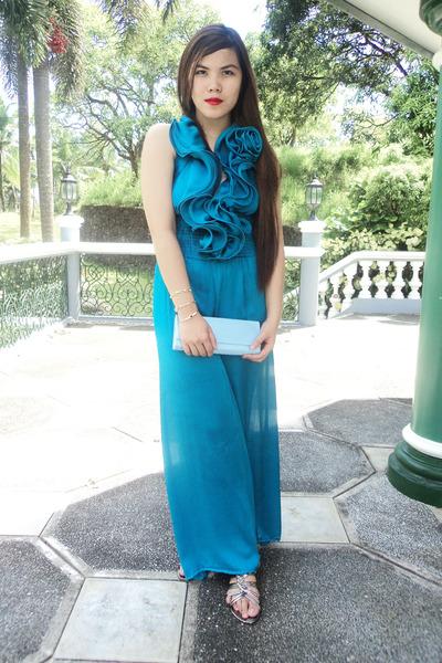 light blue sm accessories purse