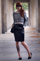 Aztec Jumper & Leather Skirt