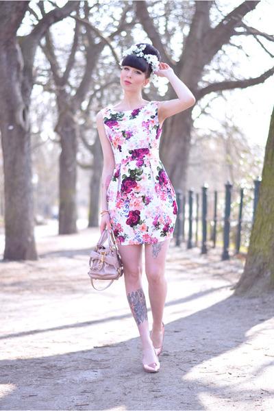 AX Paris dress - Miu Miu bag - Cheap Monday pumps