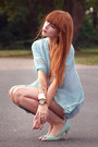 Sky-blue-zara-shorts-aquamarine-nelly-heels-aquamarine-sheinside-blouse