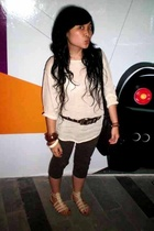 vintage blouse - Zara belt - xsml pants - bought in Bali shoes - Forever21 acces