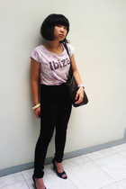 Mango t-shirt - xsml shoes - forever 21 - purse