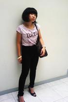 Mango t-shirt - xsml shoes - forever 21 - purse