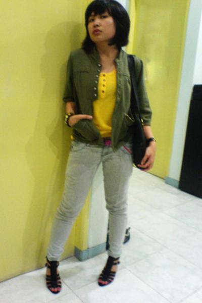 xsml jacket - xsml - christian dior purse - Mango jeans