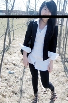 blouse - blazer - tights - shoes