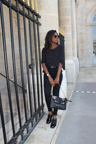 black H&M jeans - pull&bear shoes - asos belt