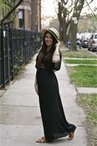 MinkPink dress - panama hat H&M hat - Boutique9 sandals - thrifted vintage brace