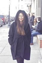 mara hoffman coat - HUE tights