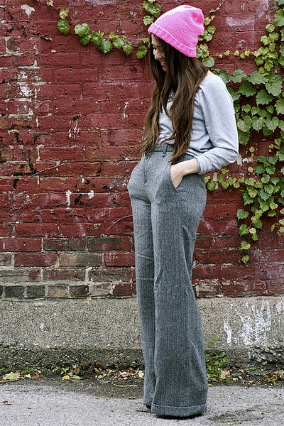 Rag and Bone pants - Etsy hat - Dolce Vita heels