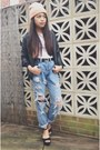 Black-platforms-ebay-shoes-light-blue-studded-levis-theraggedpriest-jeans