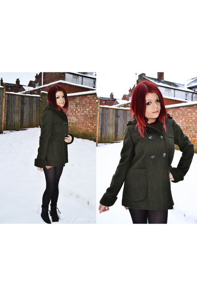 forest green Topshop coat