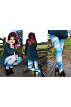 sky blue lovely sally leggings
