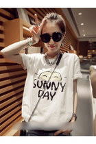 Fresh Fashion Sun Pattern T Shirt