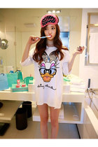 Fashion Ladybro Style Donald Duck Design T-shirt Ladybro
