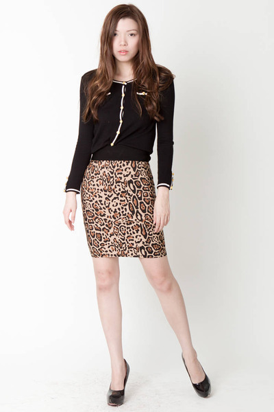 ClubCouture skirt - ClubCouture shoes - ClubCouture cardigan