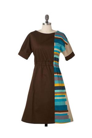 brown modcloth dress