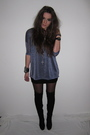 Blue-h-m-sweater-black-topshop-boots-black-h-m-skirt