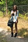 Black-topshop-skirt-blue-zara-blouse-silver-h-m-top-black-zara-boots