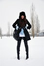 Black-topshop-boots-black-h-m-coat-light-blue-zara-blouse-black-h-m-hat