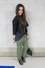 Green-zara-pants-black-muubaa-jacket-black-h-m-boots
