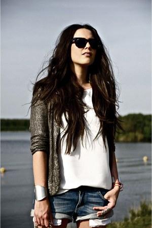 denim Zara shorts - sequin Topshop jacket