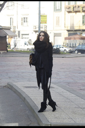 black Givenchy boots - black Zara blazer - black Topshop pants - black Winter Ka