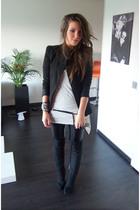 Zara blazer - Zara pants - Zara boots - Mango