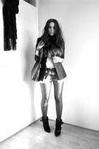 black Givenchy boots - black Zara blazer - sky blue Zara shorts - white Topshop