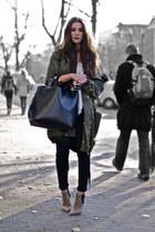 dark green parka H&M Trend coat
