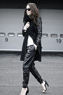 Black-leather-sleeves-coat-black-leather-harem-romwe-pants-black-cape-heels