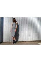 heather gray asos dress - black tony bianco heels
