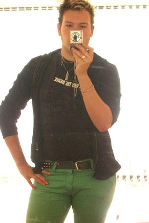 H&M jeans - Diesel t-shirt - cedarwood tesco jumper
