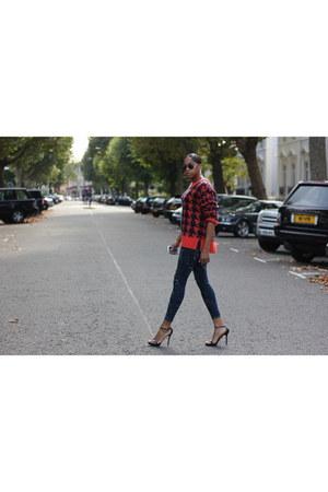 jaeger jumper - Paige Denim jeans - Zara heels