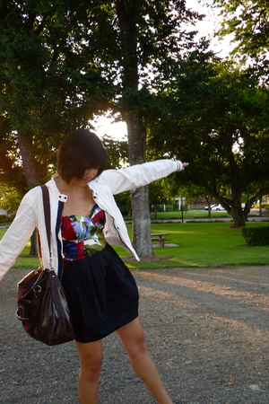 forever 21 top - H&M skirt - Converse for Target jacket - Tommy Hilfiger purse -