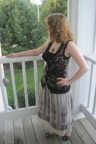 black Charlotte Russe vest - silver  skirt - brown Marolsha necklace - gray Atte