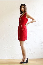 red red denim Vintage Santanta dress