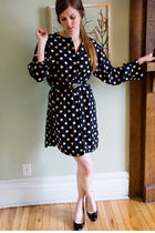 black Anne Klein dress - black Chloe shoes