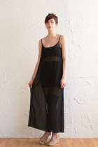 black sheer vintage dress