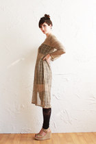 camel gold mesh Vintage Caesar Pony dress