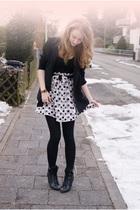 black Forever 21 shoes - black SilenceNoise blazer - pink Zara skirt
