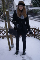 black Urban Outfitters accessories - gray H&M accessories - black Primark coat -