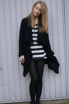 Primark cardigan - black Zara shirt - black River Island tights