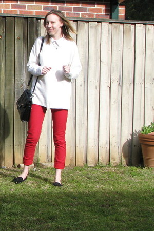 red pants - black rubi loafers