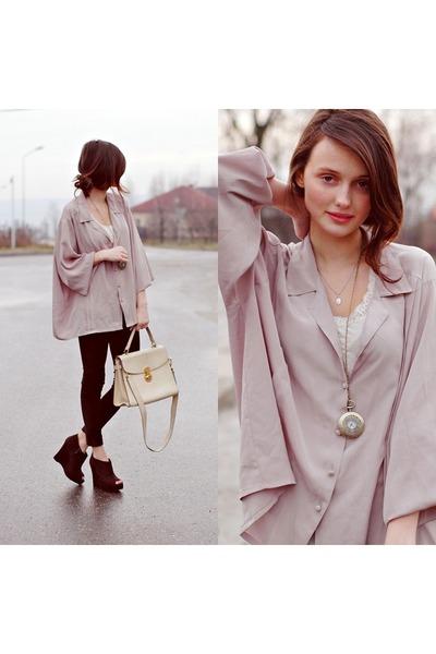 silk pink shirt