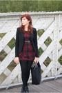 Boots-dress-blazer-bag