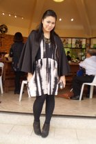 Tyler coat - Tango dress - Zara boots - firma necklace
