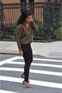 Black-h-m-shoes-black-topshop-jeans-light-brown-h-m-sweater