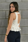 White-peplum-forever-21-top-navy-high-waisted-h-m-jeans