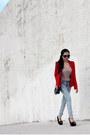 Red-century21-blazer-light-blue-h-m-jeans