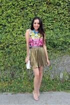 H&M shirt - Forever 21 skirt - Dolce Vita sandals